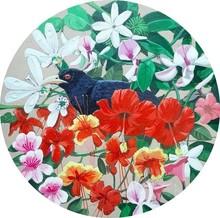 Animals Acrylic Art Painting title The Koel by artist Ashikali Khan