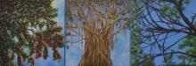 Saurab Bhardwaj Paintings | Nature Painting - The Story Of Three Trees by artist Saurab Bhardwaj | ArtZolo.com