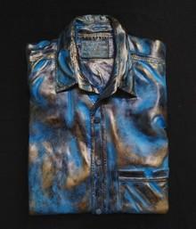 Fiberglass, Bronze Sculpture titled 'My Brother Shirt' by artist Akhilesh Gaur