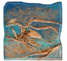 Mixed Media Painting titled 'Roots And Pathway 1' by artist Ami Patel on Copper