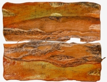 Mixed Media Painting titled 'Roots And Pathway 13' by artist Ami Patel on Copper