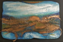 Mixed Media Painting titled 'Roots And Pathway 14' by artist Ami Patel on Copper And Aluminum