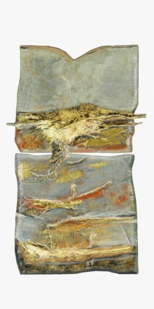 Mixed Media Painting titled 'Roots And Pathway 2' by artist Ami Patel on Brass