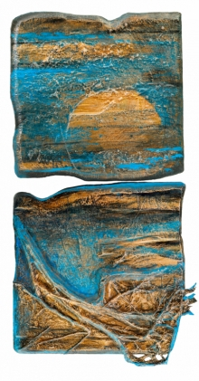 Mixed Media Painting titled 'Roots And Pathway 3' by artist Ami Patel on Copper