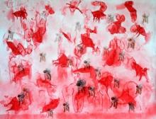 Figurative Mixed-media Art Painting title My Soul Is Burning by artist Raj Kumar Mazinder