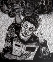 Nandini Pantawane | Empiricism Printmaking by artist Nandini Pantawane | Printmaking Art | ArtZolo.com