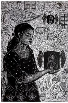 Nandini Pantawane | On The Wings Printmaking by artist Nandini Pantawane | Printmaking Art | ArtZolo.com