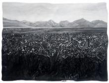 Landscape Mixed-media Art Painting title Grasslands by artist Manish Sharma