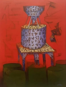 Still-life Acrylic Art Painting title Journey 2 by artist Navnath Kshirsagar