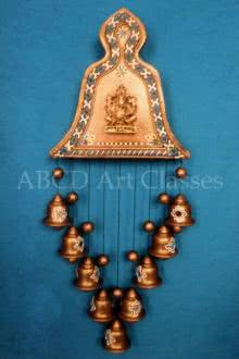 Ganesha Bells Wind Chime | Terracotta Clay Handicraft | By ABCD- Any Body Can Draw Art Classes