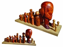 Wood, Fiberglass Sculpture titled 'The Leader' by artist Nirmal Mallick