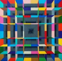 Abstract Acrylic Art Painting title Sancum by artist Samba Biswas