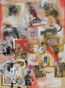 contemporary Mixed-media Art Painting title Joy by artist Susmita Chowdhury