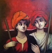 Figurative Acrylic Art Painting title Untitled 1 by artist Vijay Gille