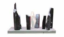 Stone Sculpture titled 'Surviver' by artist Yogender Kumar