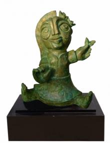 Bronze Sculpture titled 'Phoolkumari 2' by artist Atish Mukherjee