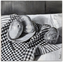 Food Oil Art Painting title Mangoes by artist Amarnath Paul