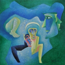 contemporary Acrylic Art Painting title God And Lord by artist Vandana Rakesh