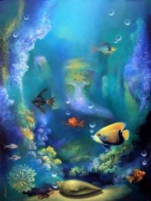 Animals Acrylic Art Painting title Spritual Feel 1 by artist Shyamsundar Achary