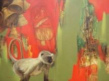 Animals Acrylic Art Painting title Spritual Feel 2 by artist Shyamsundar Achary