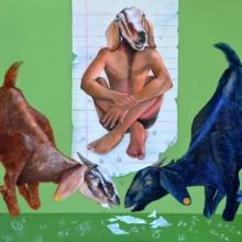 contemporary Acrylic Art Painting title Sangaticha Parinam by artist Swapnil Ramgade
