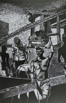 Pritam Deuskar | Bunder Printmaking by artist Pritam Deuskar | Printmaking Art | ArtZolo.com