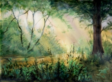 Nature Acrylic Art Painting title Tree 3 by artist Chandrashekhar P Aher