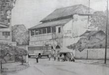 art, drawing, pencil, paper, cityscape