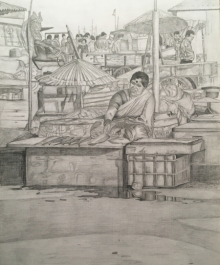 art, drawing, pencil, paper, figurative