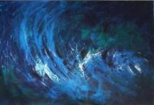 Sanjay Akolikar | Acrylic Painting title Breathing Blue on Canvas | Artist Sanjay Akolikar Gallery | ArtZolo.com
