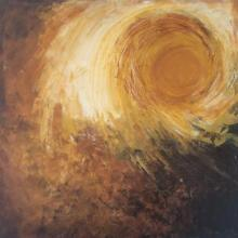 Sanjay Akolikar | Acrylic Painting title Abstract Sun on Canvas | Artist Sanjay Akolikar Gallery | ArtZolo.com