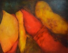 Sanjay Akolikar | Oil Painting title Composition 18 on Canvas | Artist Sanjay Akolikar Gallery | ArtZolo.com