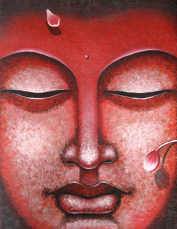 Buddha 1 by artist Abhijit Bhattacharya | acrylic Paintings