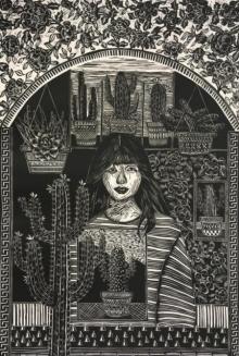 art, printmaking, woodcut, paper, figurative