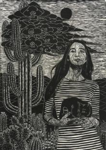 art, printmaking, paper, woodcut, figurative