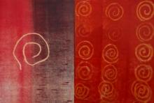 art, printmaking, monoprint, paper, abstract