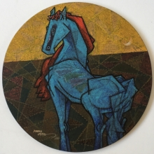 Animals Acrylic Art Painting title 'Feminine 2' by artist Dinkar Jadhav