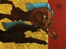 Horse - Lust For Life 2 | Painting by artist Dinkar Jadhav | acrylic | Canvas