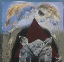 Figurative Acrylic Art Painting title Untitled 3 by artist Pradip Kumar Sau