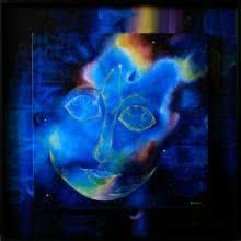 Fantasy Acrylic Art Painting title Divine Forgiveness by artist Drishti Vohra