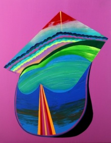 Abstract Acrylic Art Painting title Joyful 4 by artist Vidhyasagar Upadhyay