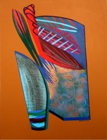Abstract Acrylic Art Painting title Joyful 5 by artist Vidhyasagar Upadhyay