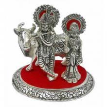 Radha Krishna Cow | Craft by artist Art Street | Metal