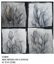 Pencil Paintings | Drawing title Corn on Canvas | Artist Trapti Gupta