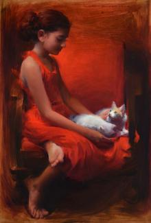 Pramod Kurlekar | Oil Painting title Gratitude on Canvas | Artist Pramod Kurlekar Gallery | ArtZolo.com