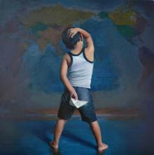 Pramod Kurlekar Paintings | Oil Painting - Inception Beyond Direction by artist Pramod Kurlekar | ArtZolo.com