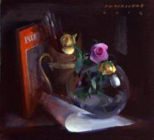Pramod Kurlekar | Oil Painting title Still Life on Canvas | Artist Pramod Kurlekar Gallery | ArtZolo.com
