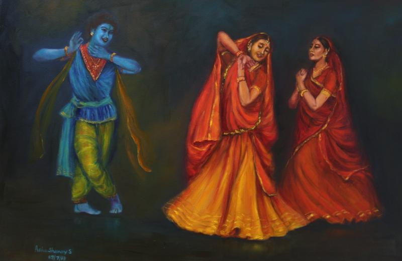 Krishna Appears To Delight The Gopis Kathak Dance by ...