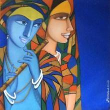 Composition 4 | Painting by artist Dewashish Das | acrylic | Canvas