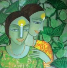 Composition 1 | Painting by artist Dewashish Das | acrylic | Canvas